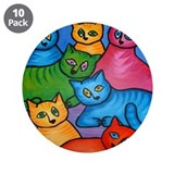 "One Cat Two Cat 3.5"" Button (10 pack)"