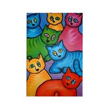 One Cat Two Cat Rectangle Magnet (10 pack)