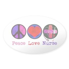 Peace Love Nurse Decal