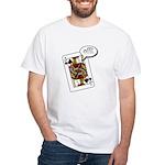White T-Shirt Single sided Jack Off