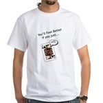 White T-Shirt Double Sided Jack Off Believe Me