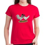 Owl Beard Chickens Women's Dark T-Shirt