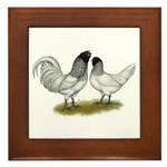 Owl Beard Chickens Framed Tile