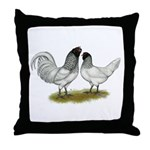 Owl Beard Chickens Throw Pillow