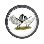 Owl Beard Chickens Wall Clock