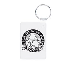 Grab Life by the Balls Aluminum Photo Keychain