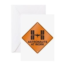 ISS / Work Greeting Card