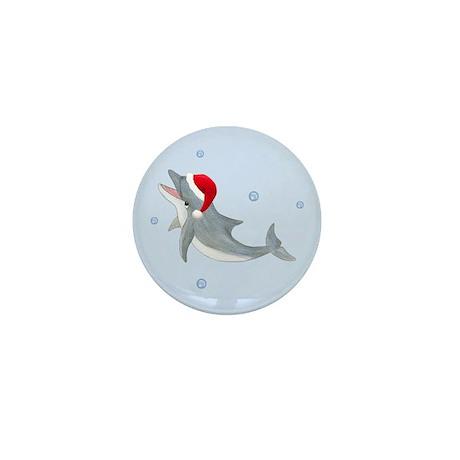 Santa - Dolphin Mini Button (10 pack)
