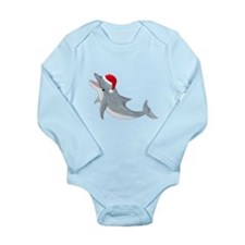 Santa - Dolphin Long Sleeve Infant Bodysuit