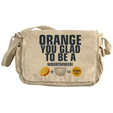 Orange You Glad To Be A Moun Messenger Bag