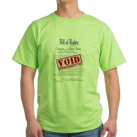 Voided Bill of Rights NDAA Green T-Shirt