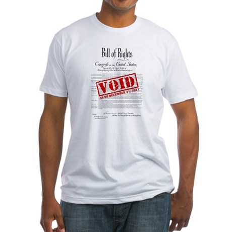Voided Bill of Rights NDAA Fitted T-Shirt