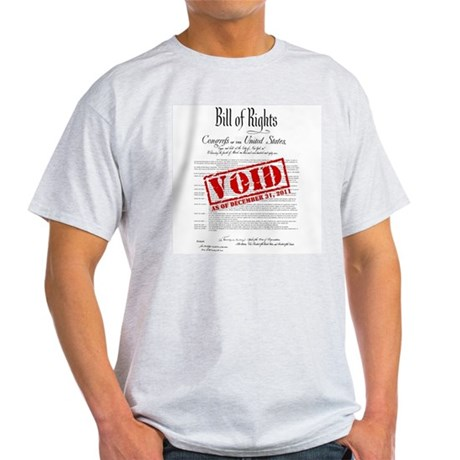 Voided Bill of Rights NDAA Light T-Shirt
