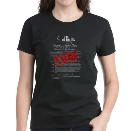 Voided Bill of Rights NDAA Womens T-Shirt