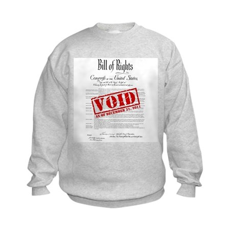 Voided Bill of Rights NDAA Kids Sweatshirt