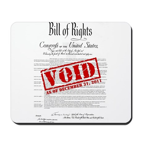 Voided Bill of Rights NDAA Mousepad