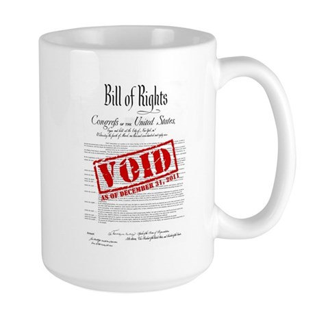 Voided Bill of Rights NDAA Large Mug