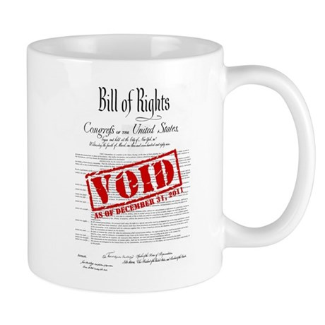 Voided Bill of Rights NDAA Mug