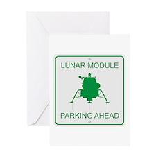 Lunar Module Parking Greeting Card
