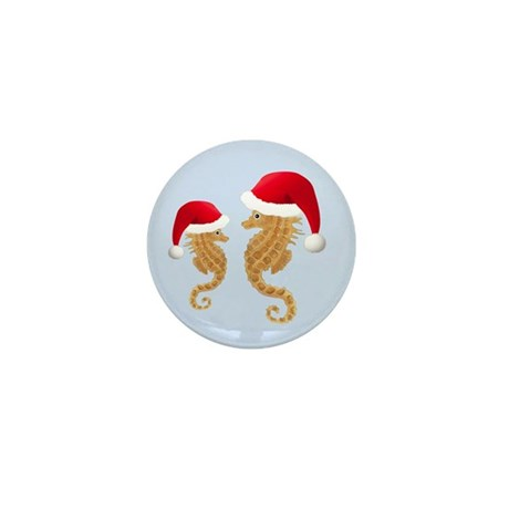 Santa - Seahorse Mini Button (10 pack)