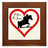 I Love to Jump! Horse Framed Tile