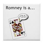 Tile Coaster - Romney is a Jack Ass