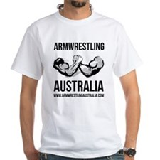 Armwrestling Australia Men's White Shirt