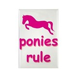 ponies rule Rectangle Magnet (10 pack)