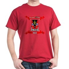 Proud 509th Airborne Dad ribbon Black T-Shirt