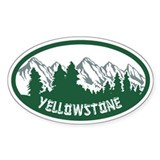 Yellowstone Oval Sticker Bumper Stickers
