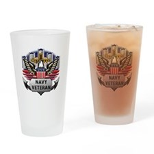Official US Navy Veteran Drinking Glass
