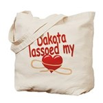 Dakota Lassoed My Heart Tote Bag