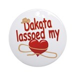 Dakota Lassoed My Heart Ornament (Round)