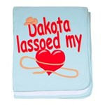 Dakota Lassoed My Heart baby blanket