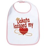 Dakota Lassoed My Heart Bib