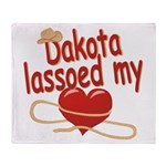 Dakota Lassoed My Heart Throw Blanket