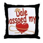 Dale Lassoed My Heart Throw Pillow