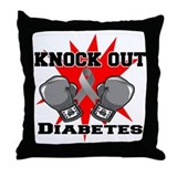 Knock Out Diabetes Throw Pillow