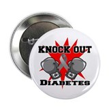 "Knock Out Diabetes 2.25"" Button"