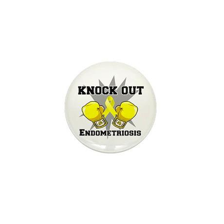 Knock Out Endometriosis Mini Button