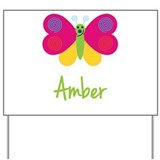 Amber The Butterfly Yard Sign