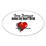 Tony Dinozzo makes my heart throb Decal