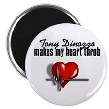"Tony Dinozzo makes my heart throb 2.25"" Magnet (10"