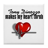 Tony Dinozzo makes my heart throb Tile Coaster