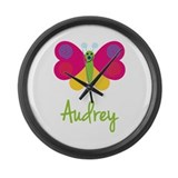 Audrey The Butterfly Large Wall Clock