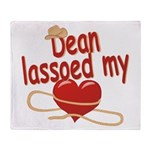 Dean Lassoed My Heart Throw Blanket