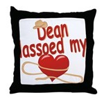 Dean Lassoed My Heart Throw Pillow