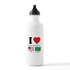 USA-ZAMBIA Water Bottle