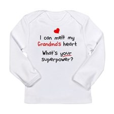 Melt Grandma's Heart Long Sleeve Infant T-Shirt