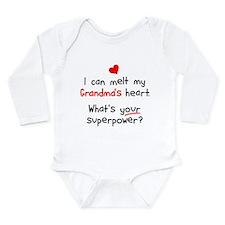 Melt Grandma's Heart Long Sleeve Infant Bodysuit